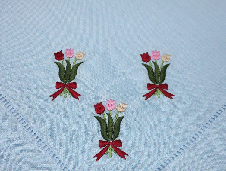 Tulip Bouquet Dinner Napkins (4) - Chefanie