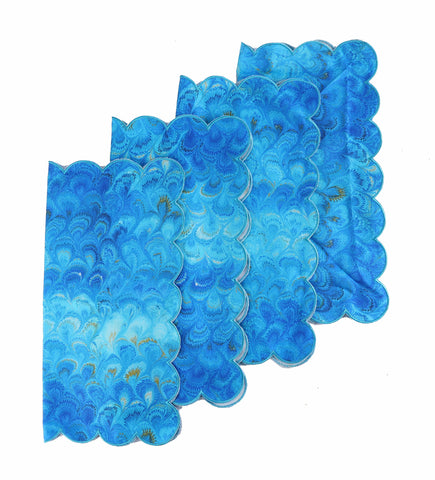 Blue Marble Napkins (4)