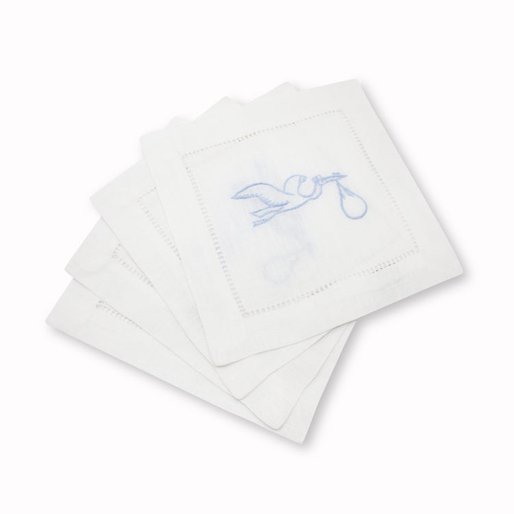 Stork Cocktail Napkins, Set of 4 Chefanie