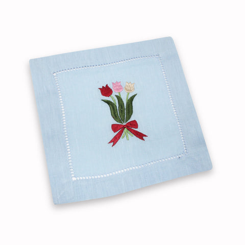 Tulip Cocktail Napkins, Set of 4 - Chefanie