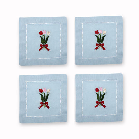 Tulip Cocktail Napkins, Set of 4