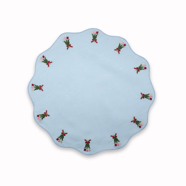 Embroidered Tulip Placemats (4) Chefanie