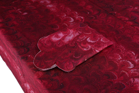 Burgundy Marble Tablecloth Chefanie