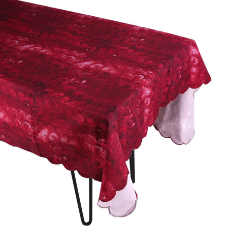 Burgundy Marble Tablecloth