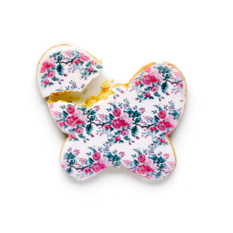 Chintz Butterfly Cookies (Box) Blue chintz Chefanie