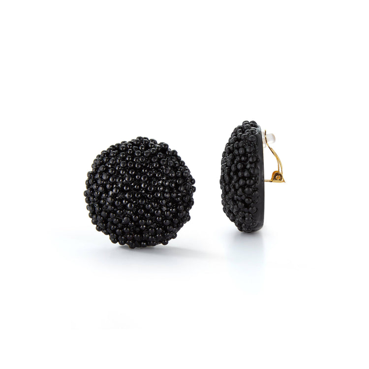 Black Caviar Earrings - Chefanie
