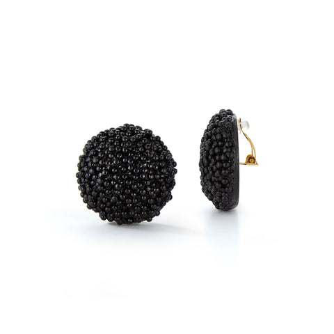 Black Caviar Earrings Caviar Chefanie