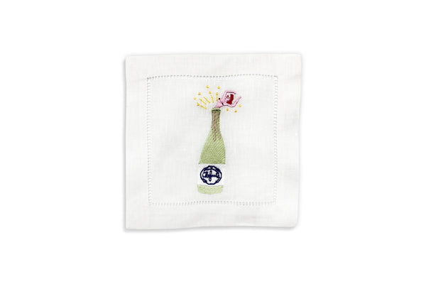 Champagne Girl Cocktail Napkins, Set of 4 - Chefanie