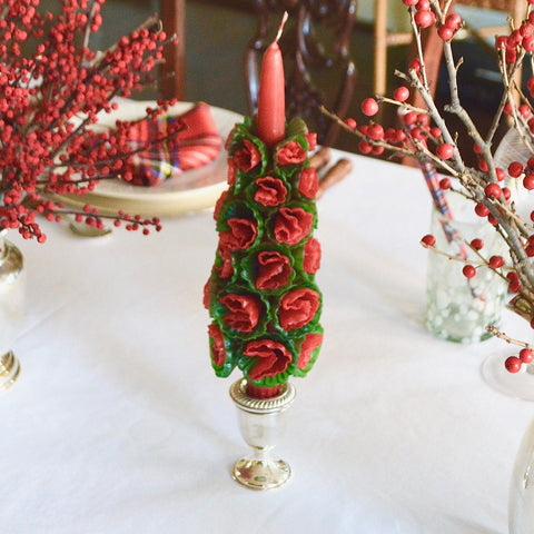 Christmas Flower Candle - Chefanie