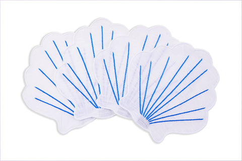 Coquilles Cocktail Napkins, Set of 4 - Chefanie