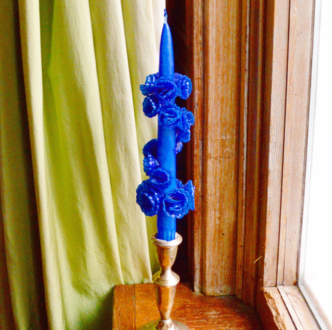Blue Flower Candle - Chefanie