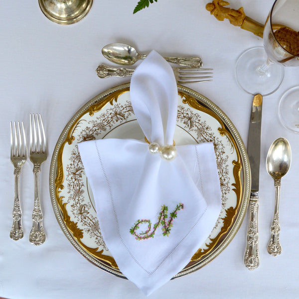 Custom Embroidered Dinner Napkins - Chefanie
