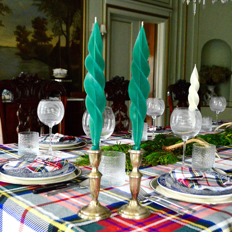 Green Feather Candles (2) Chefanie
