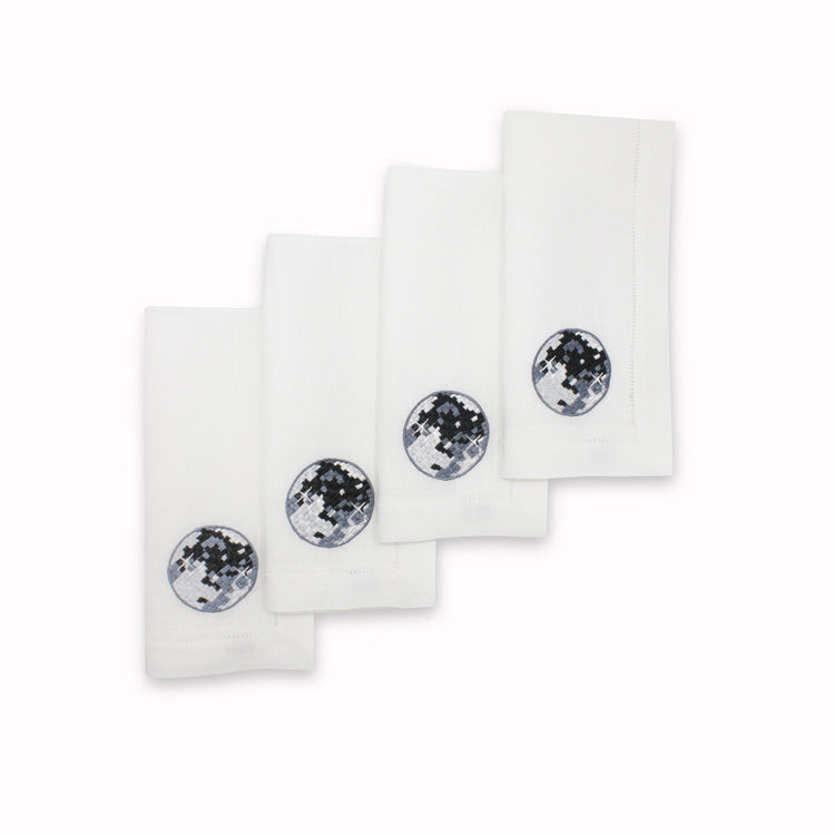 Disco Ball Dinner Napkins, Set of 4