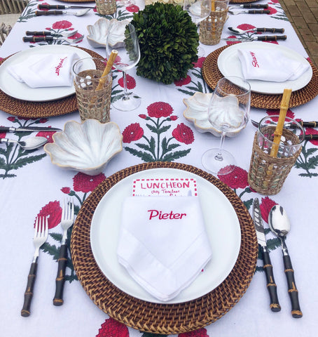 Red Poppy Tablecloth Chefanie