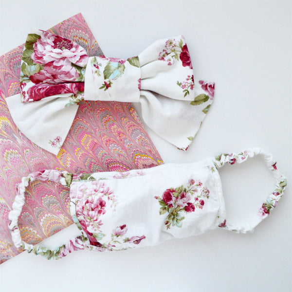 Chintz Mask Chefanie Single Mask with Matching Hair Barrette -- Save $10!