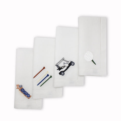 Golf Lover Dinner Napkins, Set of 4