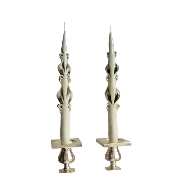 Green Edge Baroque Tapers (2) - Chefanie