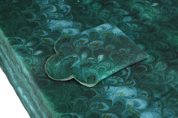 Green Marble Tablecloth Chefanie