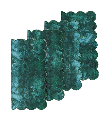 Green Marble Napkins (4)