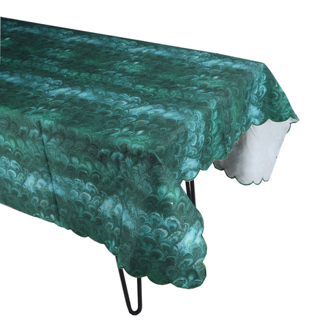 Green Marble Tablecloth
