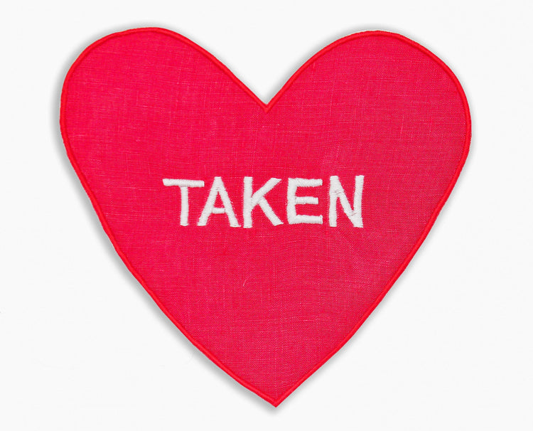 Single/ Taken Heart Cocktail Napkins, Set of 4 - Chefanie