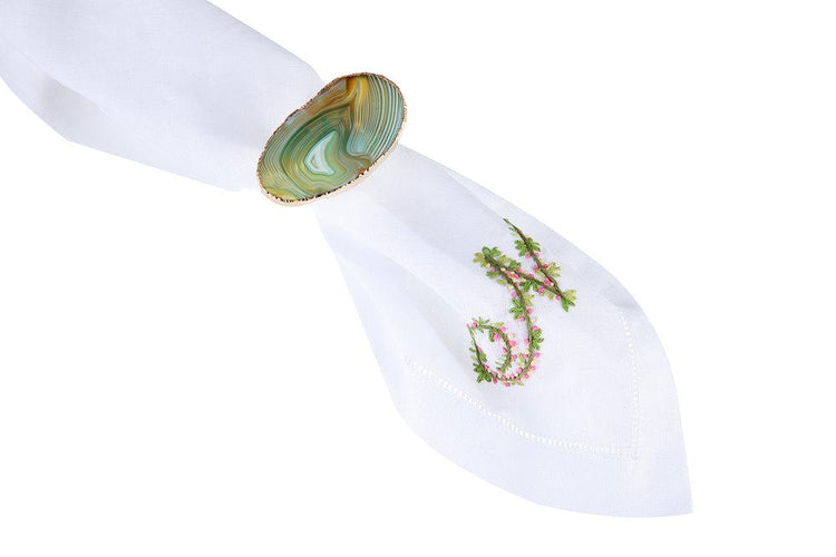 Agate Napkin Ring, Set of 4 - Chefanie