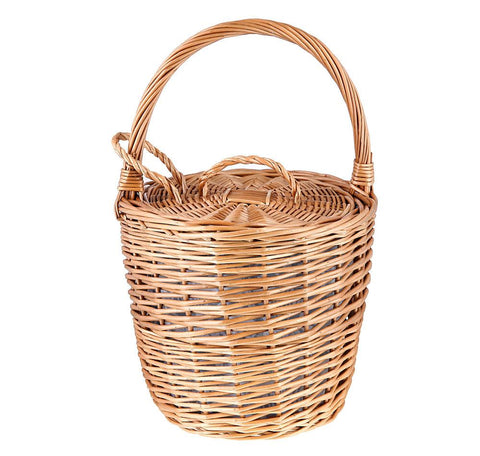 Tanner's Brown Wicker Basket Basket Chefanie