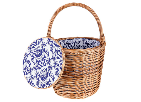 Tanner's Brown Wicker Basket