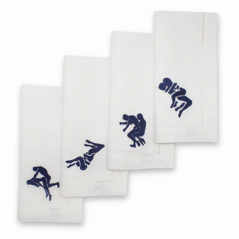 Kama Sutra Dinner Napkins, Set of 4
