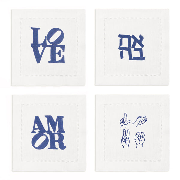 LOVE Cocktail Napkins, Set of 4 - Chefanie