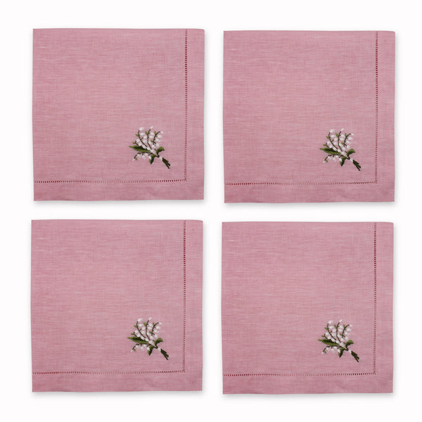 Lily of the Valley Dinner Napkins Chefanie