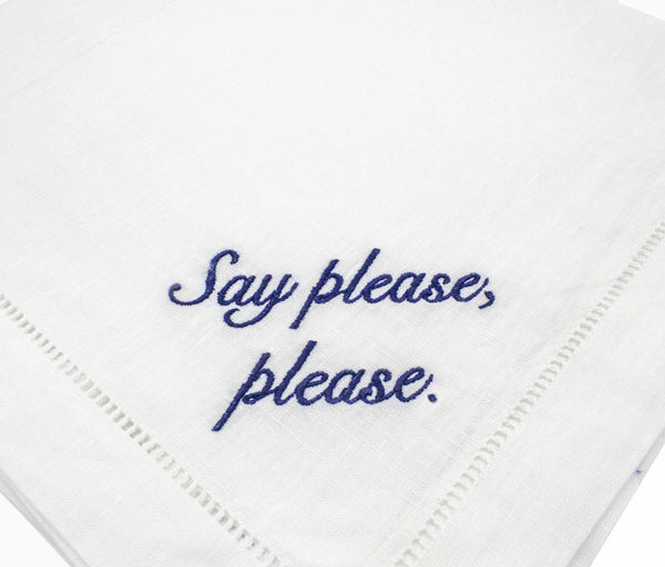 Miss Manners Dinner Napkins, Set of 4 - Chefanie