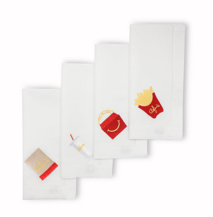 Drive-Thru Dinner Napkins, Set of 4