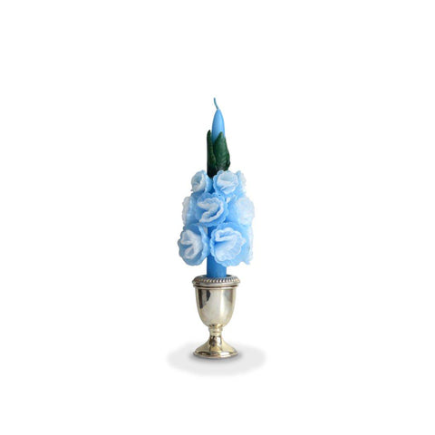 Medium Blue Blossom Candle