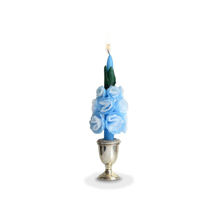 Medium Blue Blossom Candle - Chefanie