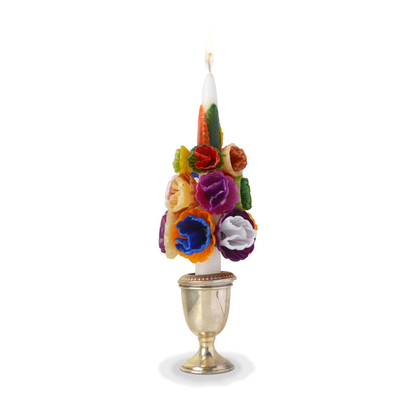 Medium Multicolored Flower Candle Multicolored Chefanie