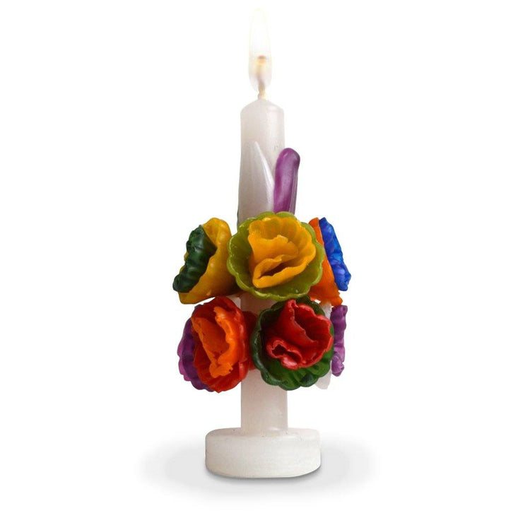 Mini Multicolored Flower Candle Candles Chefanie