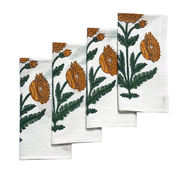 Orange Poppy Napkins (4) - Chefanie