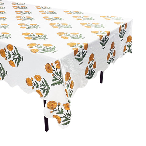 Orange Poppy Tablecloth
