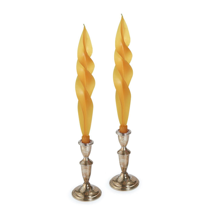 Orange Feather Candles (2)