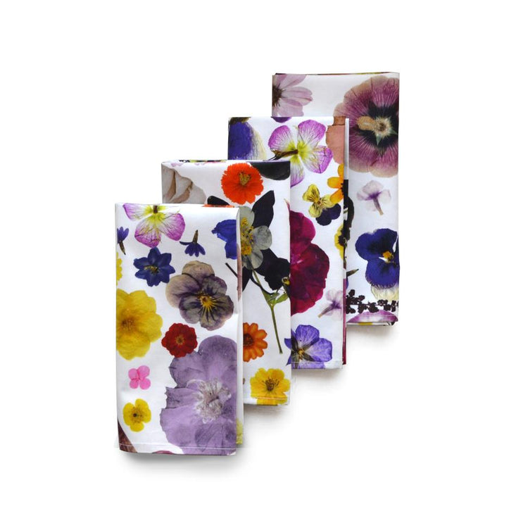 Pressed Flower Napkins (4)