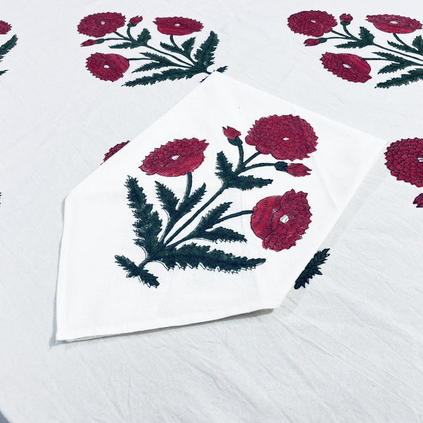 Red Poppy Napkins (4) - Chefanie
