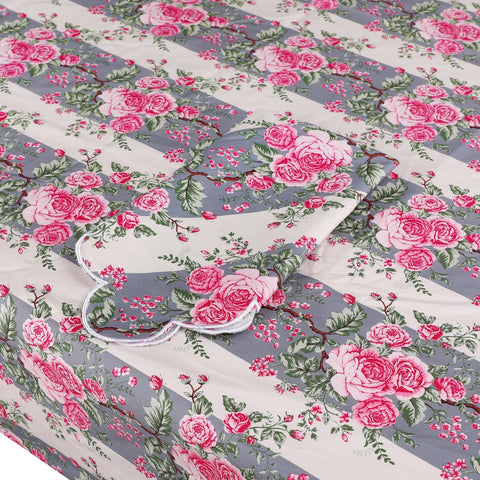 Striped Chintz Tablecloth Blue chintz Chefanie