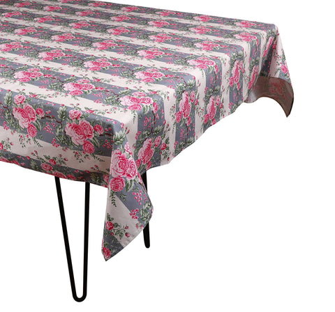 Striped Chintz Tablecloth