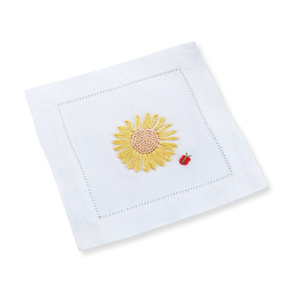 Sunflower Cocktail Napkins, Set of 4 - Chefanie