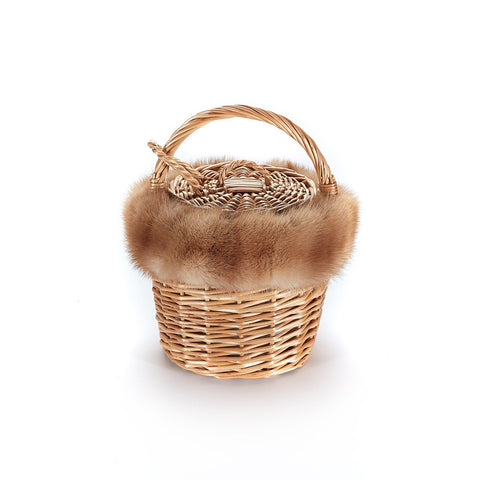 Mini Basket with Recycled Pastel Mink - Chefanie