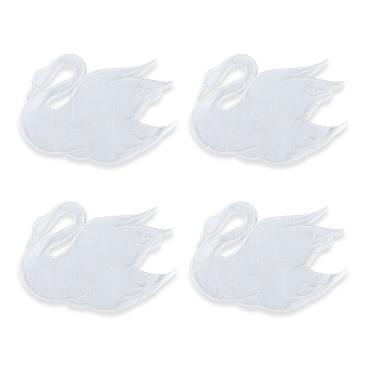 White Swan Cocktail Napkins