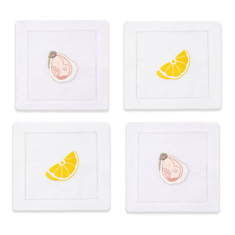 The World is Your Oyster Cocktail Napkins, Set of 4