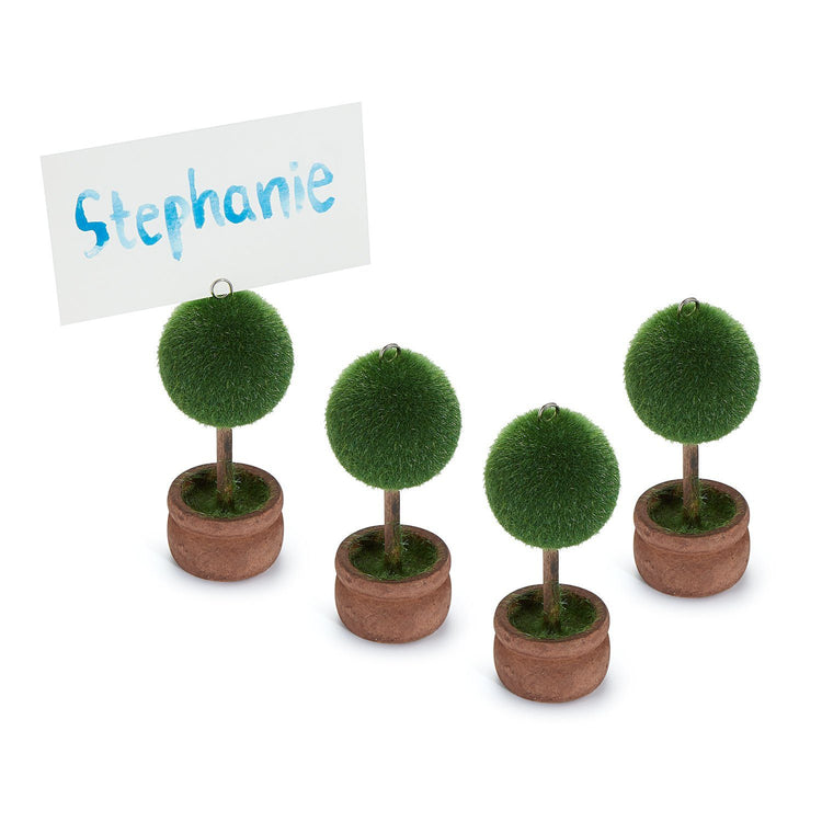 Topiary Placecard Holders, Set of 4